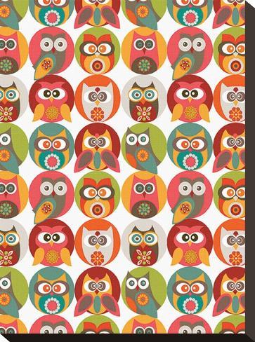 Owls Family  Pingotettu canvasvedos