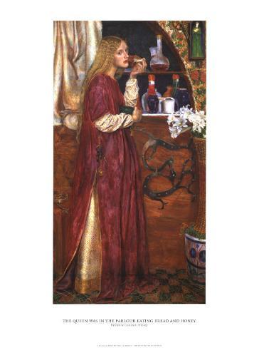 The Queen Was In The Parlour Eating Bread and Honey Art Print