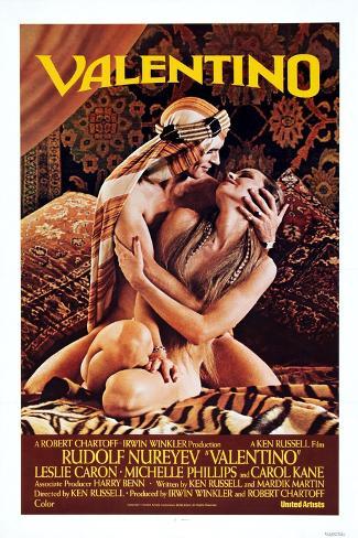 Valentino, 1977 Art Print