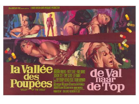 Valley of the Dolls, Belgian Movie Poster, 1967 Konstprint