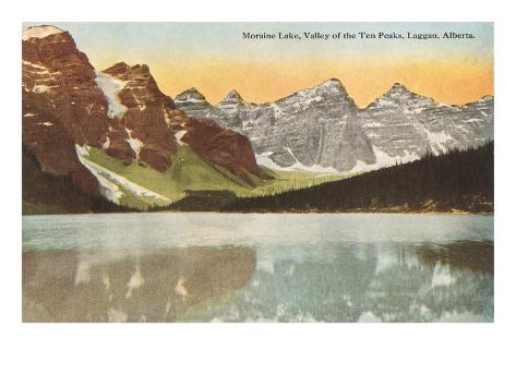 Valley of the Ten Peaks, Laggan, Alberta Art Print