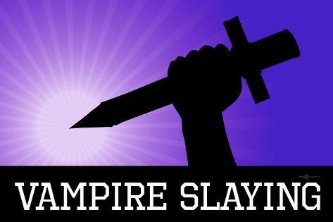 Vampire Slaying Purple Poster Print Poster