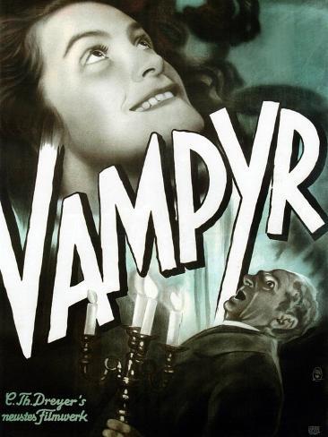 Vampyr, German poster art, Sybille Schmitz, Maurice Schutz, 1932 Art Print