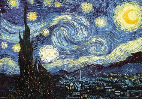 Van Gogh - Starry Night - 3D Poster 3 Dimensional Poster