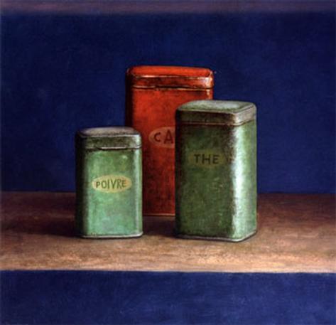 Tin Boxes I Art Print