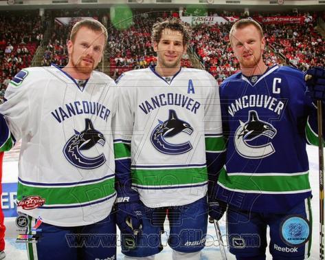 Vancouver Canucks - Daniel Sedin, Henrik Sedin, Ryan Kesler Photo Photo
