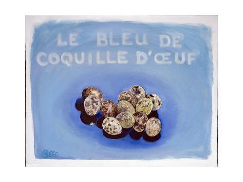 Le Bleu de Coquille d'Oeuf, November 2002 Giclée-vedos