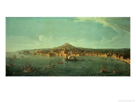 A View of Naples Giclee Print