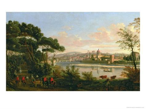 View of Florence from the Cascine Giclee Print