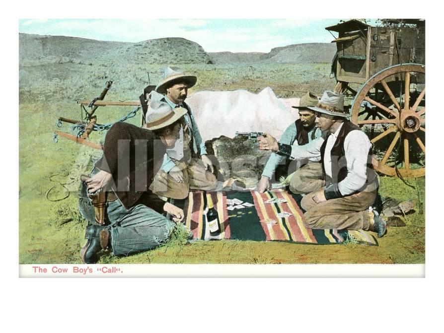 Vaqueros jugando a las cartas Pósters en AllPosters.es