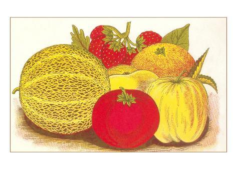 Various Fruits, Illustration Taidevedos