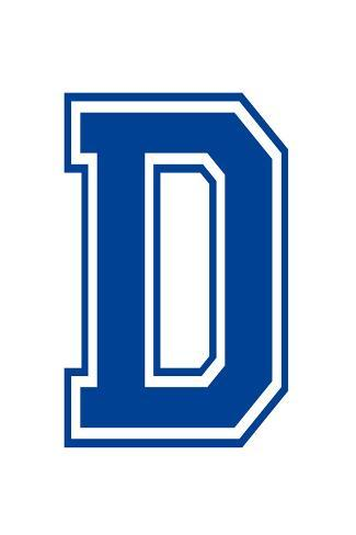 Varsity Letter D Make Your Own Banner Sign Poster Juliste