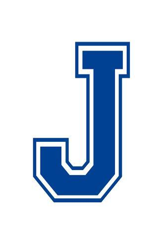 Varsity Letter J Make Your Own Banner Juliste