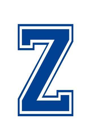 Varsity Letter Z Make Your Own Banner Juliste