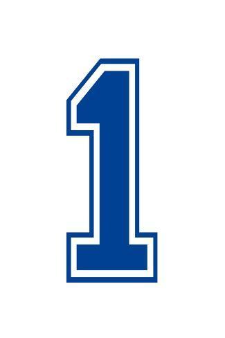 Varsity Number 1 (one) Make Your Own Banner Juliste