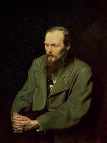 Portrait of Fyodor Dostoyevsky (1821-81) 1872 Giclee Print