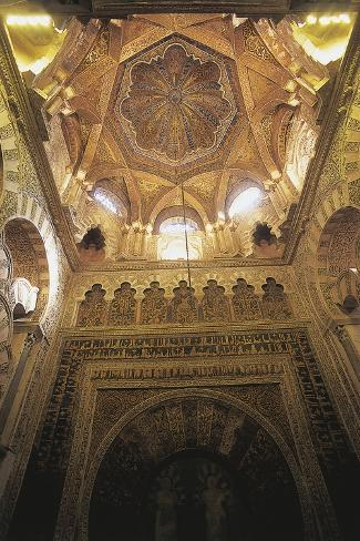 Vault of the Mihrab in the Mosque Photographic Print