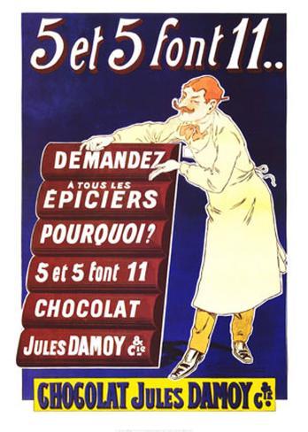 Chocolat Jules Damoy Art Print