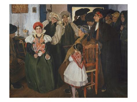 Wedding at Ansó, 1904 Stretched Canvas Print