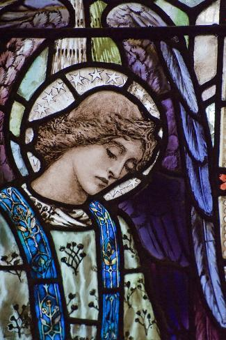 Beautiful Stained Glass Window Detail of Saint Peter Photographic Print