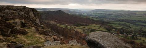 Panorama Landscape Peak District National Park England in Fall Photographic Print