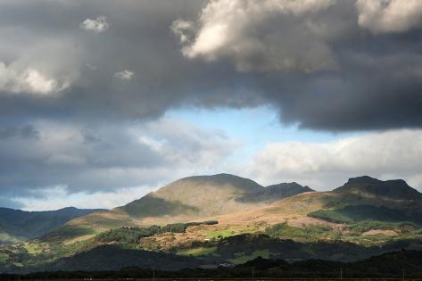 Panorama Landscape Snowdonia National Park Wales United Kingdom Photographic Print