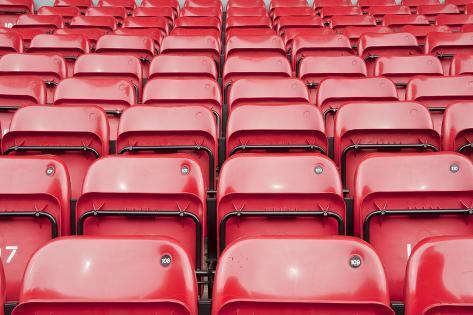 Repetitive Pattern of Football Stadium Seating Photographic Print