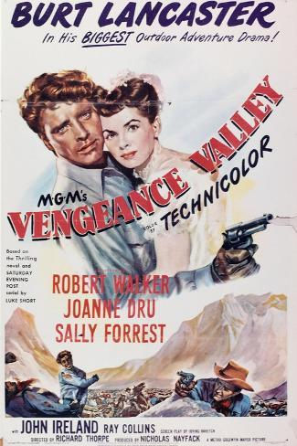 Vengeance Valley, 1951, Directed by Richard Thorpe Gicléetryck