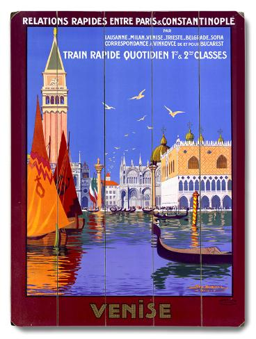 Venice Italian Gondola Travel Wood Sign