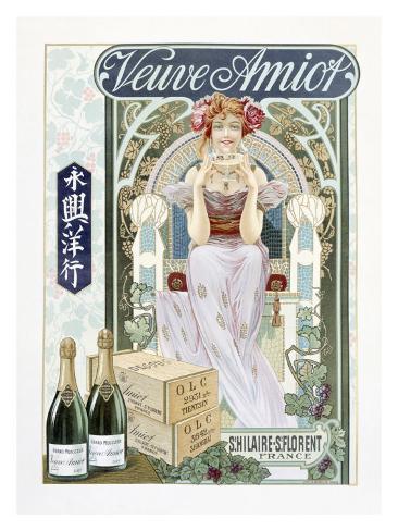 Venue Amoit Champagne Nouveau Giclée-vedos