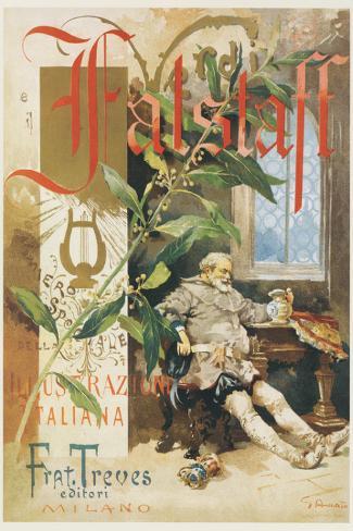 Verdi, Falstaff Stretched Canvas Print