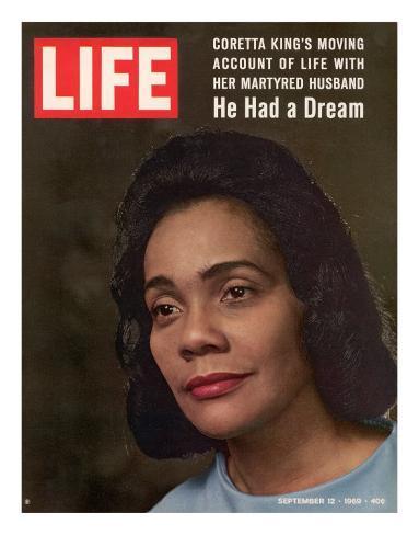 Coretta Scott King, Widow of Civil Rights Leader, September 12, 1969 Premium Photographic Print