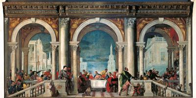 Christ in the House of Levi Photographic Print by Veronese ...