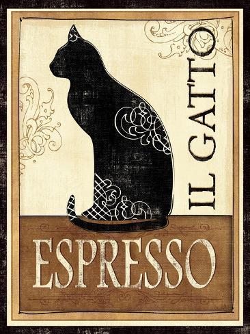 O gato, em italiano Impressão giclée premium