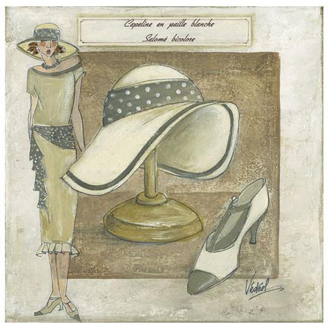Capeline Paille Blanche Art Print