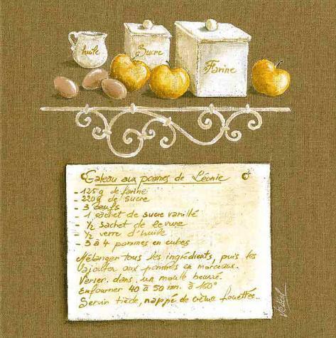 Gateau aux Pommes Stampa artistica
