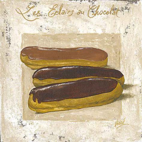 Les Eclairs au Chocolat Framed Art Print
