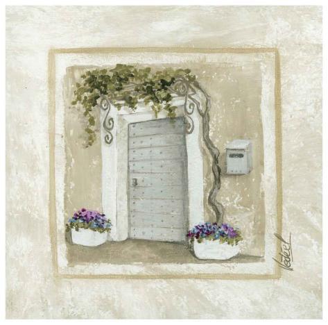 porte et pots de fleurs prints by v ronique didier laurent. Black Bedroom Furniture Sets. Home Design Ideas