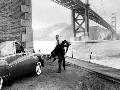 Vertigo, James Stewart, Kim Novak, 1958 Photo