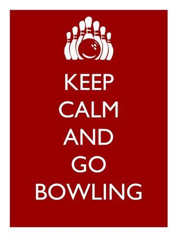 オールポスターズの veruca salt keep calm and go bowling ポスター