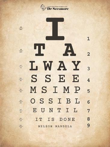Nelson Mandela Eye Chart Ii Print By Veruca Salt Allposters