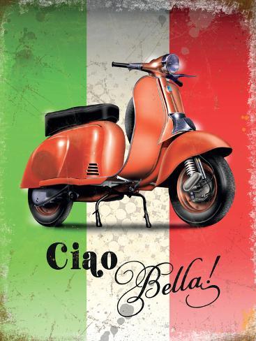 Vespa Italian Flag Targa di latta