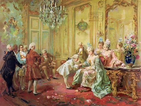 The Presentation of the Young Mozart to Mme De Pompadour at Versailles in 1763 Giclee Print