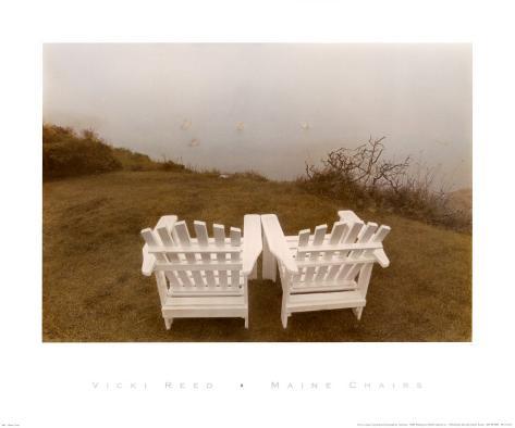 Maine Chairs Art Print