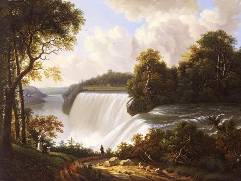 Niagara Falls Scene Giclee Print