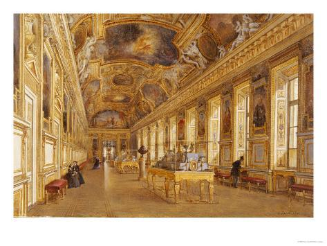 The Interior of the Louvre, the Galerie d'Apollon Giclee Print