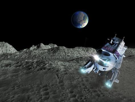 Lunar Exploration, Artwork Photographic Print