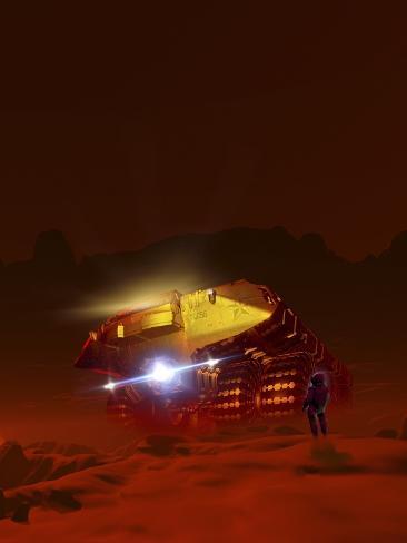 Mars Exploration, Artwork Photographic Print