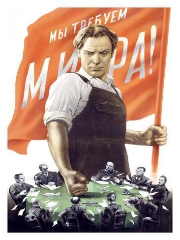Soviet Communist Poster Giclee Print