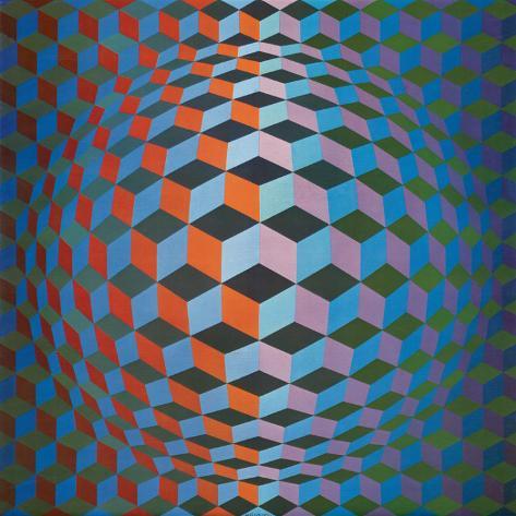 Squares Impressão em tela esticada